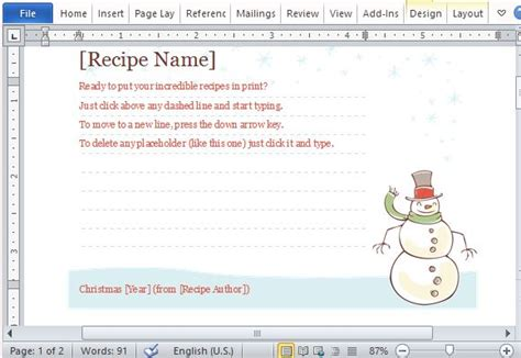 recipe card template free editable printable recipe cards
