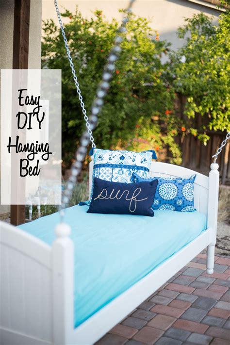 diy hanging bed easy diy hanging bed domestically speaking
