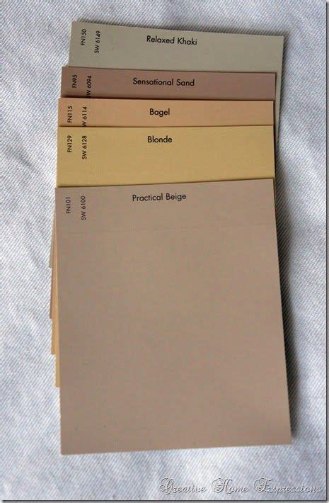 the khaki and practical beige popular paint colors