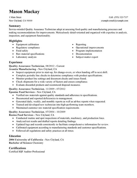 quality assurance resume exles wellness resume