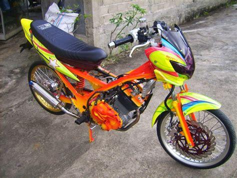 Alarm Satria Fu 150 modifikasi suzuki satria fu 150 airbrush motor expose