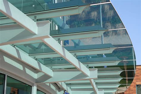 glass awning system glass canopies