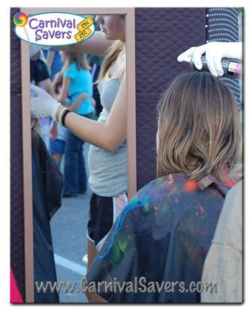 colored hairspray colored hairspray carnival booth carnival activity