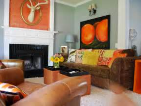 brown and orange home decor decorating with warm rich colors color palette and
