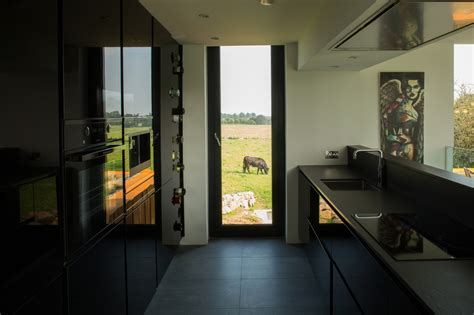 shipping container home acts like a sculpture in the irish