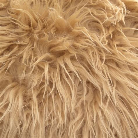 Fur Upholstery Fabric by Mongolian Faux Fur Fabric Camel 1 Yard