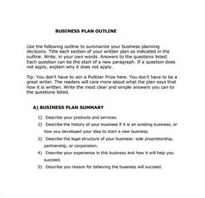 business plan outline template 10 download free