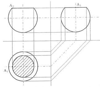 uni pv lettere disegno tecnico sezioni di solidi e tipi di sezioni