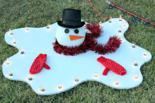 Melted snowman yard decoration diy how to make a large big lights is