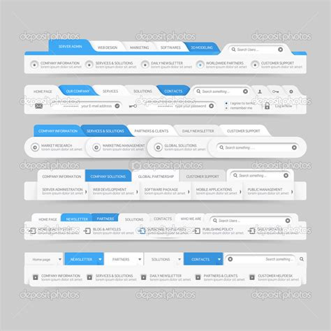 Design Menu Navigation | 18 menu design website images website menu graphics web