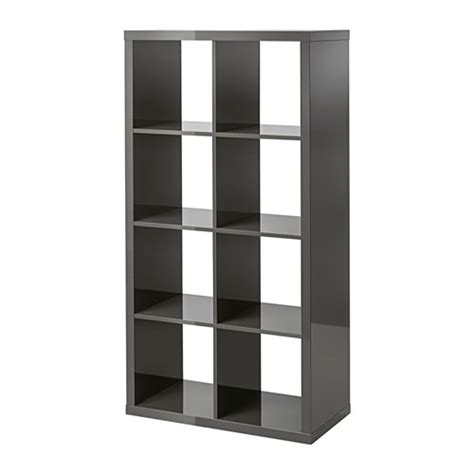 etagere 6 cases ikea kallax 201 tag 232 re brillant gris ikea
