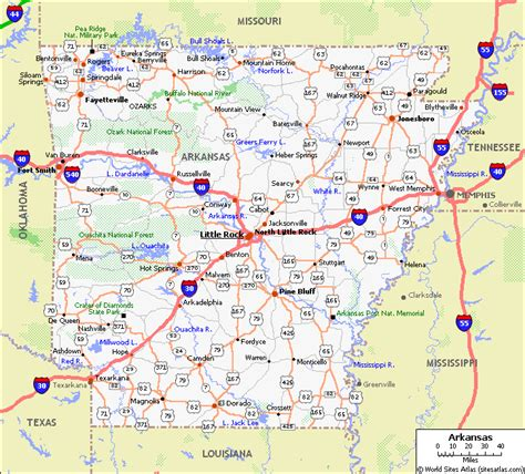 xvon image arkansas highways road map
