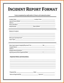 4 accident incident report form template progress report