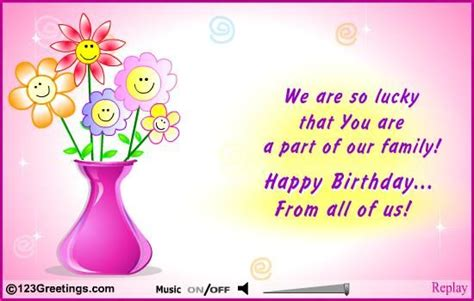 Happy Birthday Wishes For A Family Member Happy Birthday E Cards Pinterest