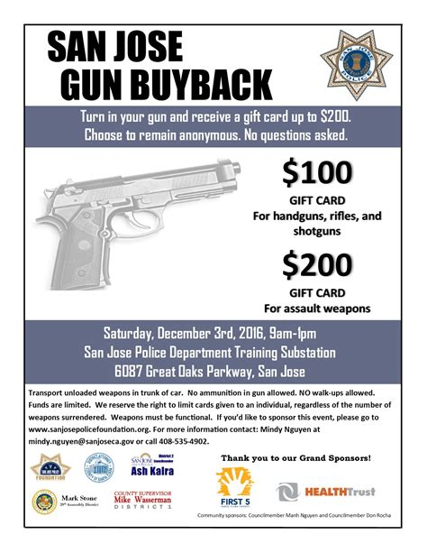 Gift Card Buyback - san jose police holding gun buyback offering target gift cards for unwanted weapons