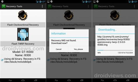android reset tool apk install custom recovery cwm twrp on rooted android