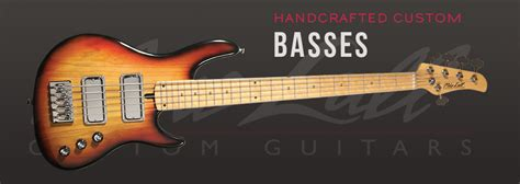 Handmade Bass - mike lull custom guitars guitar works handmade custom