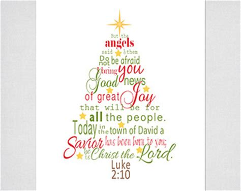 luke  bible verse christmas tree subway art instant etsy