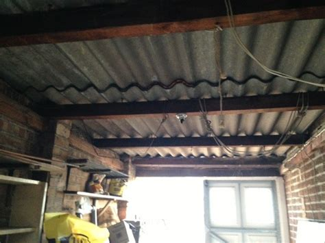 removal of asbestos garage roof 1930 semi detached