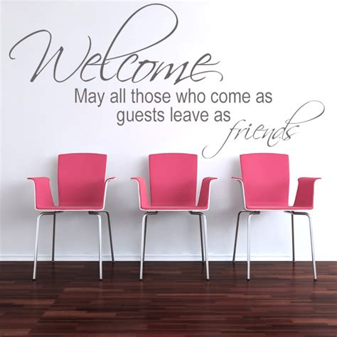 welcome wall stickers welcome guests wall sticker decals