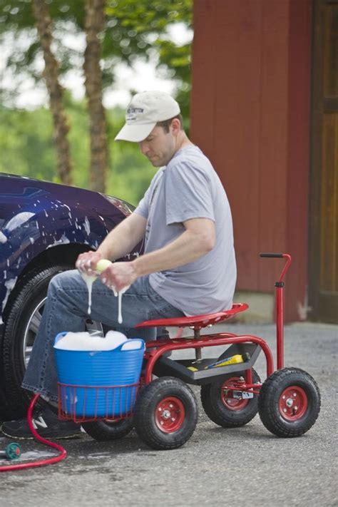 garden scooter tractor seat tractor scoot rolling garden seat gardener s supply