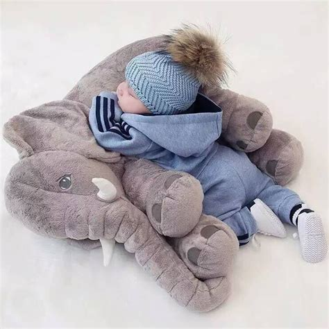 pillow for baby to sleep in bed elephant soft appease baby pillow baby calm doll baby toys