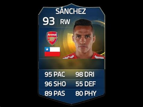 alexis sanchez upgrade fifa 15 fifa 15 tots sanchez 93 player review in game stats