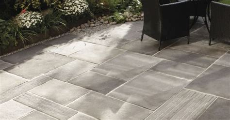 captivating outdoor patio stones  pavers  grey stained concrete floor tiles   set