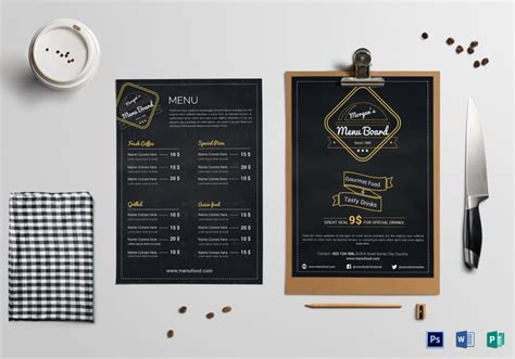 35 Beautiful Restaurant Menu Designs Inspirationfeed Menu Board Template