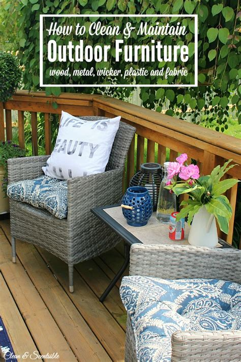 how to clean outdoor patio furniture how to clean patio furniture clean and scentsible