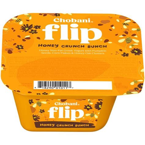 Honey Crunch Cf 220g chobani flip honey crunch bunch yogurt hy vee aisles grocery shopping
