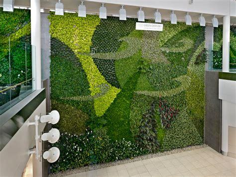 Green Wall Vertical Garden Edmonton Airport Unveils Air Cleaning Living Green