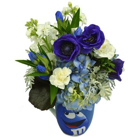Flower Mug blue m m character flower mug designed by karin s florist