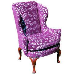 sherrill of hickory wing chairs with green dragonfly upholstery a wingback chair pixgood com pix