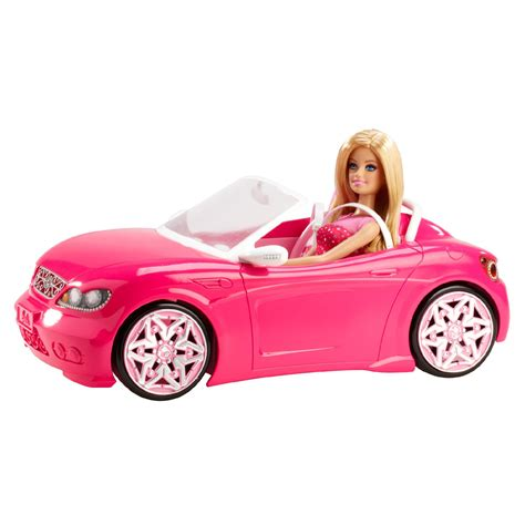 barbie convertible barbie 174 doll and glam convertible kmart