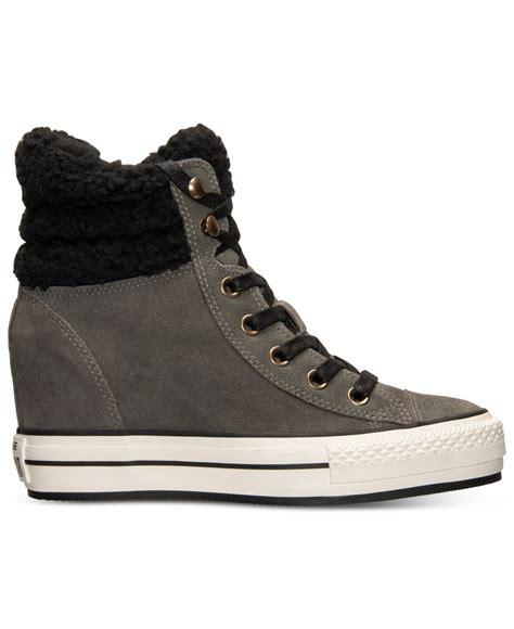 Sepatu Casual Converse Allstar Hi Grey converse s chuck all platform plus hi suede casual sneakers from finish line