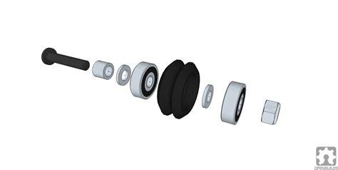 Delrin V Wheel Kit By 3dp Store dual v wheel kit delrin maker store