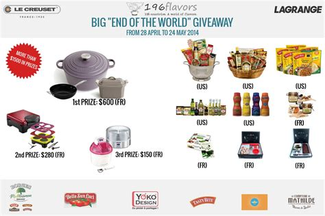 World Giveaways - big quot end of the world quot giveaway 196 flavors