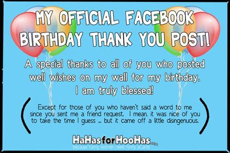 Saying Thank You For Birthday Wishes Quotes Birthday Thank You Facebook Covers Pinterest