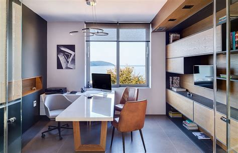 small architectural office with a view of the ionian sea