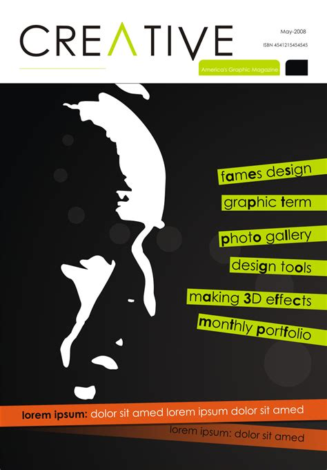magazine layout cover design creative magazine cover by abaq on deviantart