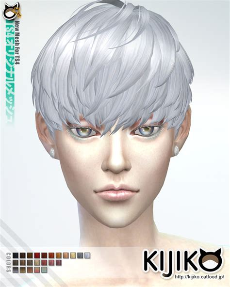 sims 4 short hair kijiko sims short hair with heavy bangs for her sims 4