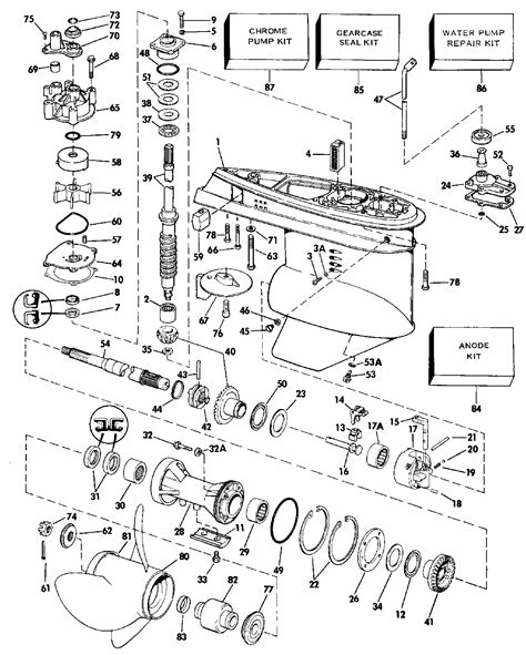 evinrude lower unit diagram i a 90 hp evinrude model e90mlcdc serial j1120379 i