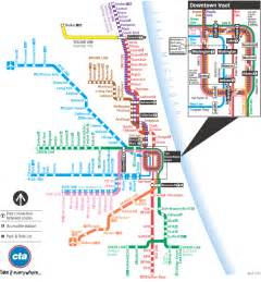 Chicago Blue Line Map by Chicago Train Map Chicago Il Mappery
