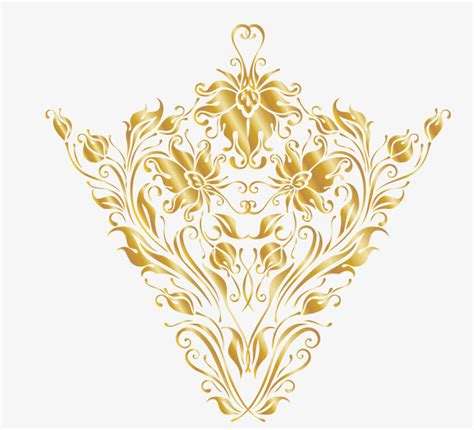 rococo pattern vector golden luxury rococo pattern luxurious golden pattern