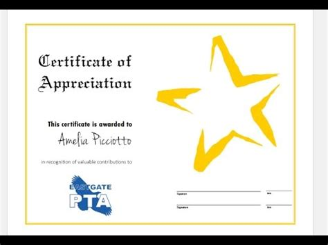 how to quickly make certificate of appreciation using ms
