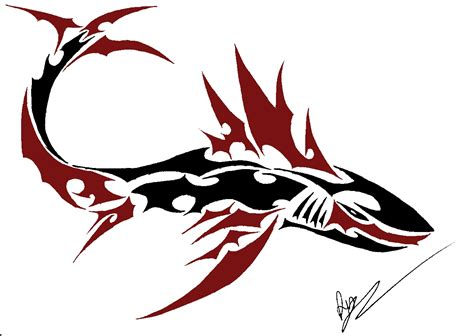 tribal shark tattoo designs polynesian tribal shark