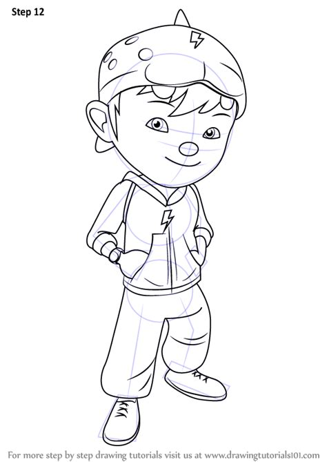 Learn How to Draw BoBoiBoy (BoBoiBoy) Step by Step