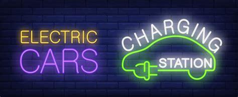 lade neon ladestation neon leuchtreklame schattenbild des gr 252 nen