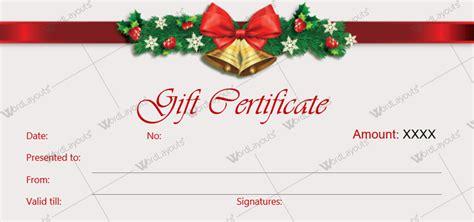12 Beautiful Christmas Gift Certificate Templates For Word Free Gift Certificate Templates For Word